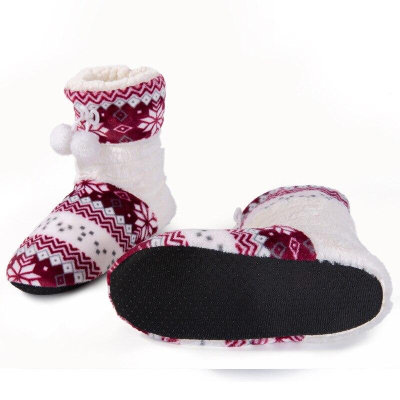 Zapatos Pie Invierno Botines Dedo Redondo Las De Tela 2018 Mujeres Mujer red Largas Algodón Del Black navy Nieve Botas purple 68xzt