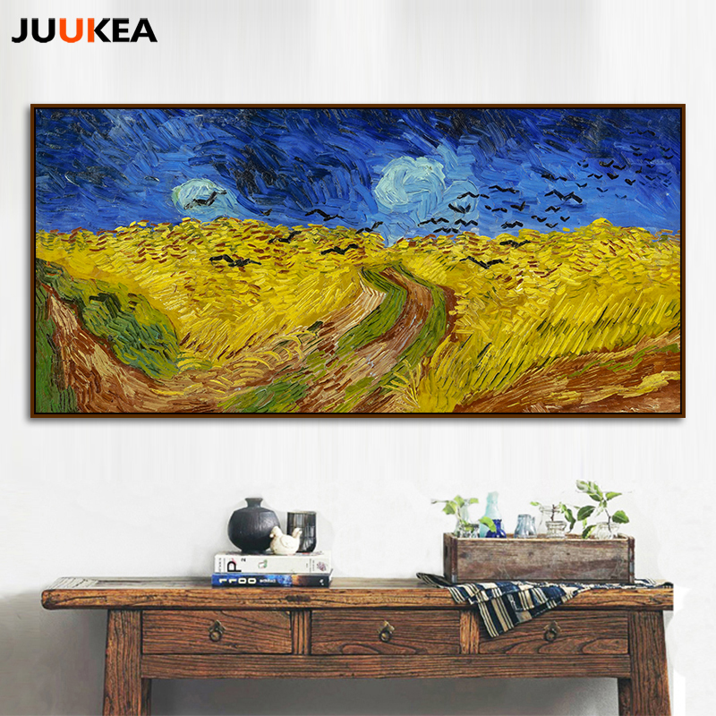 VINCENT VAN GOGH WHEAT FIELD CANVAS PICTURE PRINT WALL ART HOME DECOR