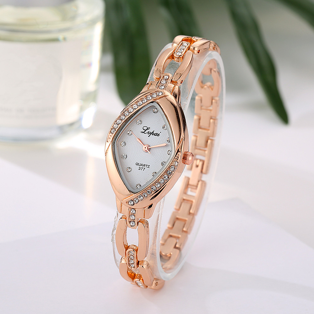 Fashion Casual Quartz Wristwatch Luxury Rhinestone Gold Dress Watch Women 2019 LVpai Top Brand Women Bracelet Watch Relogio Cloc