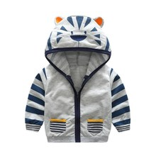 Baby Jacket Casual Cartoon Hooded Tops Children Clothes Autu