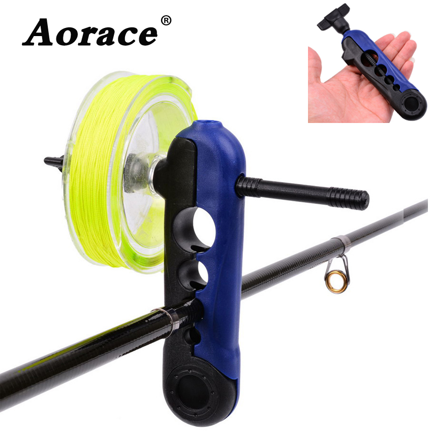Nadler プラスチック調節可能な釣り糸スプーラポータブルユニバーサルすべてのサイズ上のクリップロッドボビンリールワインダーボードスプールラインラッパー Mobile AOrace