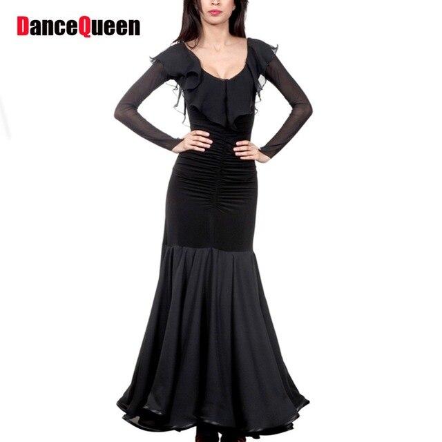 6bd1ecb30 Lady Ballroom Dance Dress Black Blue Women Ballroom Practice Skirt ...