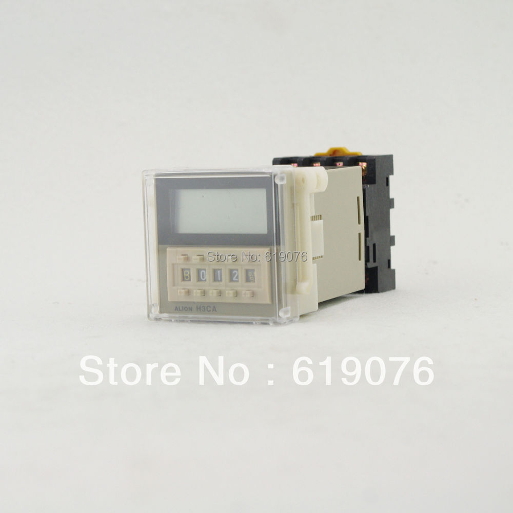 Time Relay On Delay Solid State H3CA-A 24 to 240V 11Pins SPDT DIN Track Mounting high quality 5 pieces h3y 2 power on time delay relay solid state timer max 30m 220vac dpdt