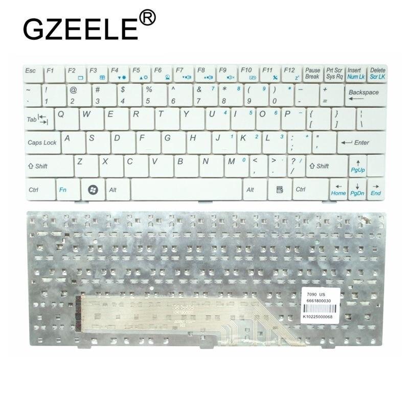 GZEELE NEW US Laptop Keyboard For MSI U100 U100X N011 U160 U123 U90 U135 U165 MS-N011 U130 English Replace Notebook Keyboard New