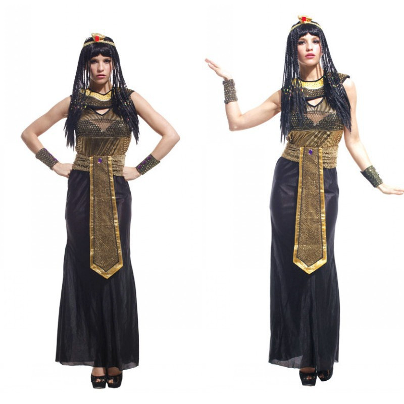 Fantasia feminina The Egyptian queen Costume Woman Halloween Cleopatra Cosplay Nightclub Belly dancing dress Carnival Masquerade