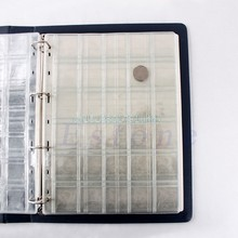 1 Sheet 20/30/42 Pockets Classic Coin Holders Sheets for Storage Collection Album Clip Holders(China)