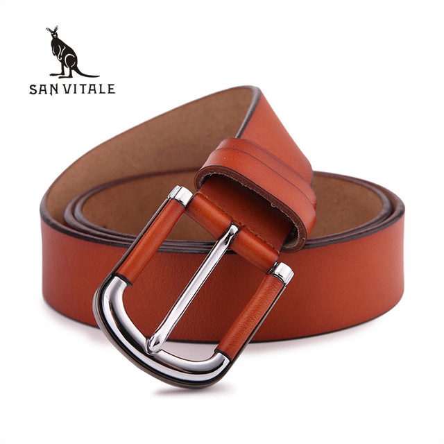 2016 Top Cow genuine leather belts for men alloy buckle vintage Handcrafted mens luxury belt men ceinture homme free shipping