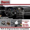 Для Mercedes Benz E Class W212 2010 ~ 2015/Вид Сзади Автомобиля резервное Копирование Камера Заднего Вида Комплектов/RCA & Оригинальный Экран Совместимость