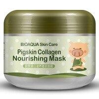 BIOAQUA Brand Face Skin Care Pigskin Collagen Sleeping Mask Shrink Pore Moisturizing Acne Blackhead Treatment Facial