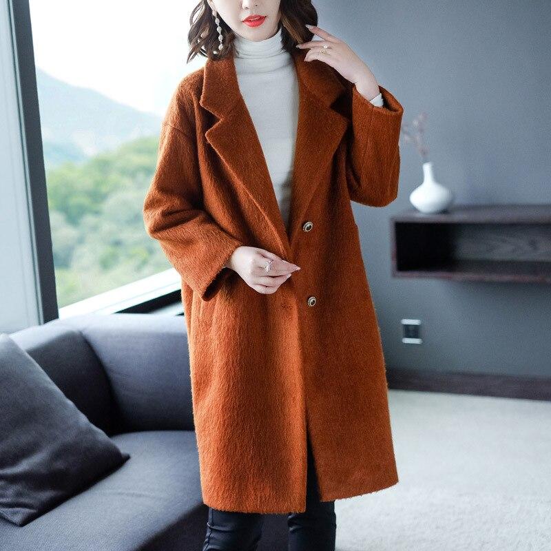 Survêtement Haute Large Nouveau À Mélange Femme 2018 Marque Manteaux Hiver Manteau La Chaud Taille Laine Femmes Vestes Plus Qualité Xxxxl rqSqCwnYF