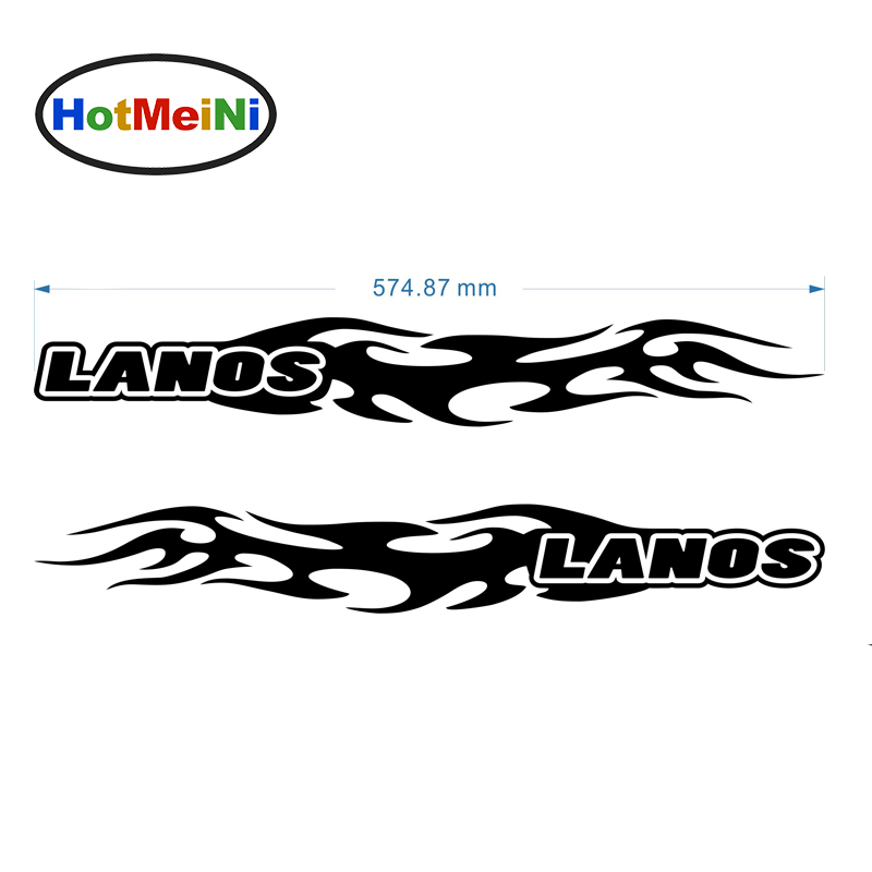 HotMeiNi Daewoo Lanos Flames (one for each side) Tattoo Decal Vinyl Car Sticker deawoo lanos корейская сборка