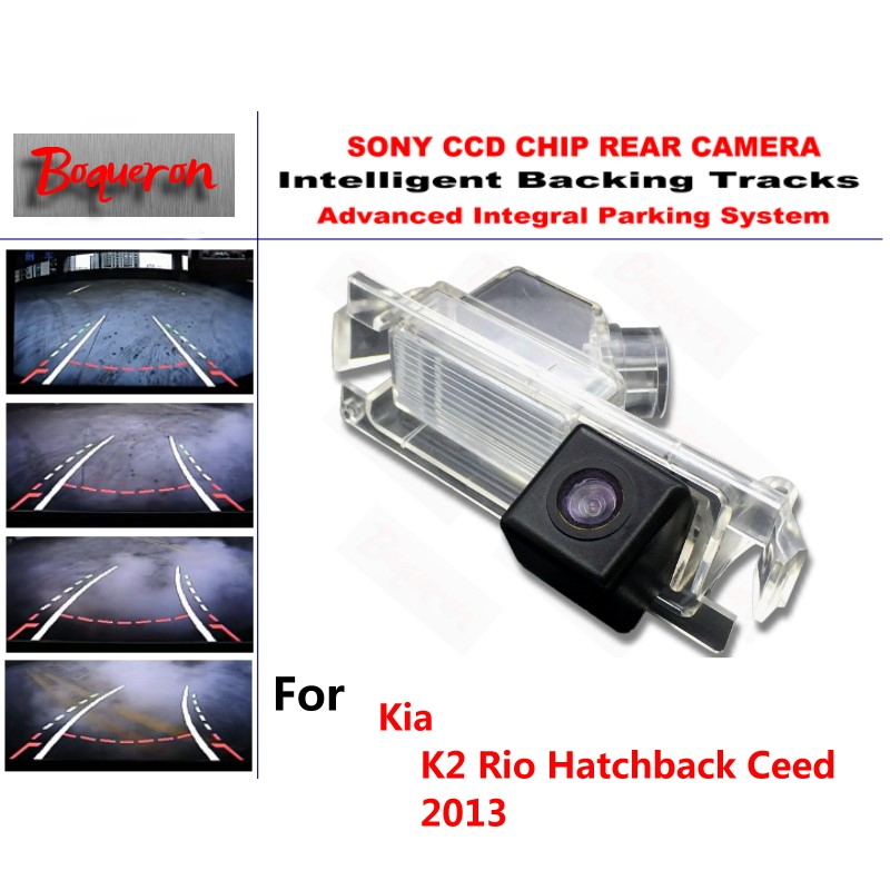 for Kia K2 Rio Hatchback Ceed 2013 CCD Car Backup Parking Camera Intelligent Tracks Dynamic Guidance