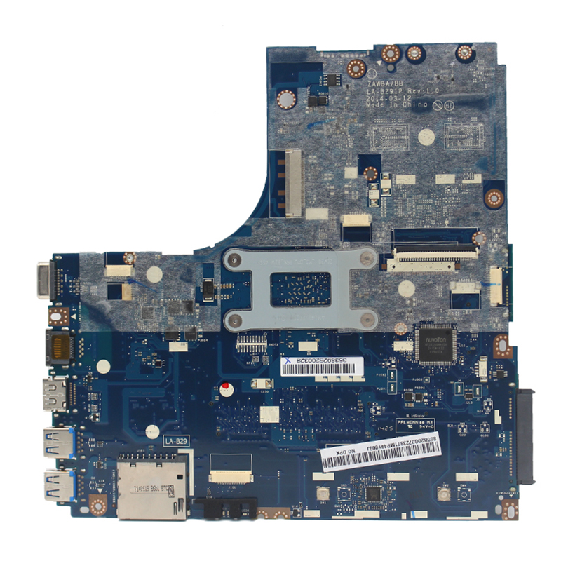 Original For Lenovo B50-45 laptop motherboard E1-6010 CPU ZAWBA/BB LA-B291P 5B20G3723811 100% fully Tested 1
