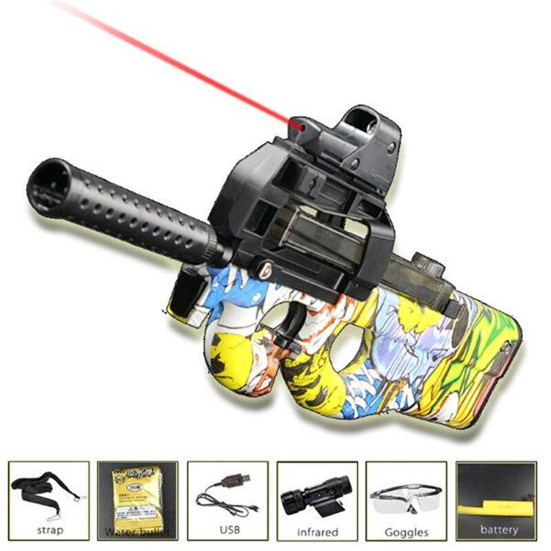 Жить CS P90 электрические игрушки Водный пистолет Пейнтбол нападение Бекас оружие мягкая вода пулевой пистолет с пулями игрушки мальчик игру...