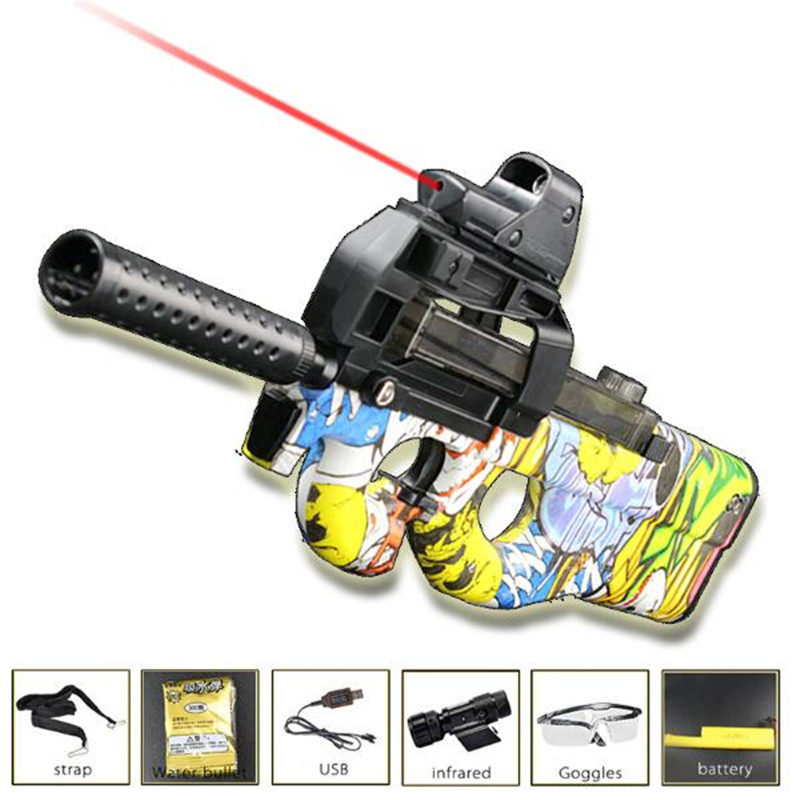 Live CS P90 Electric Toy Gun Orbeez Paintball Assault Snipe Weapon Soft Water Bullet Pistol with bullets Toys Boy Weapons toys toy submachine gun soft bullet gun plastic toy outdoor toys paintball nerfs elite air soft gun gift for children