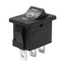 SPDT ON-OFF-ON 3 Position Snap In Boat Rocker Switch AC 250V/6A 125V/10A