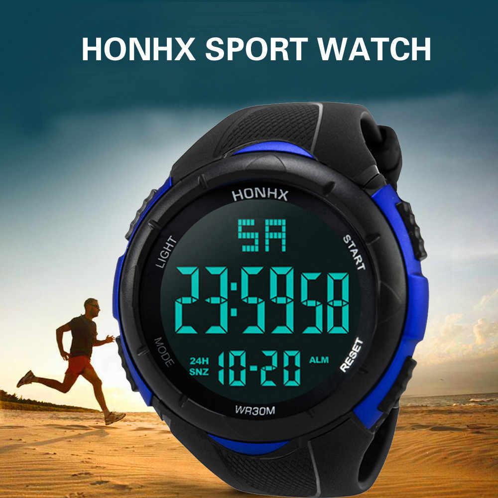 Luxo masculino analógico relógios digitais militar do exército esporte led relógio de pulso à prova dsuper água super qualidade relógio presente