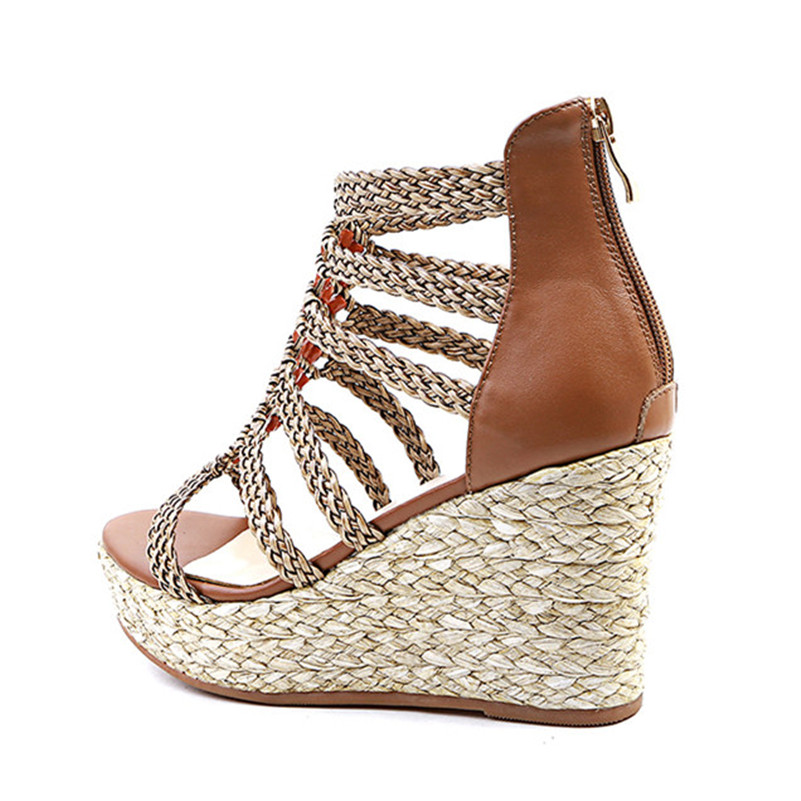 FEDONAS Ladies Shoes Fashion Women Sandals Summer Bohemia Style Casual Shoes Super Wedges Heeled Platforms Shoes Woman-in High Heels from Shoes    3
