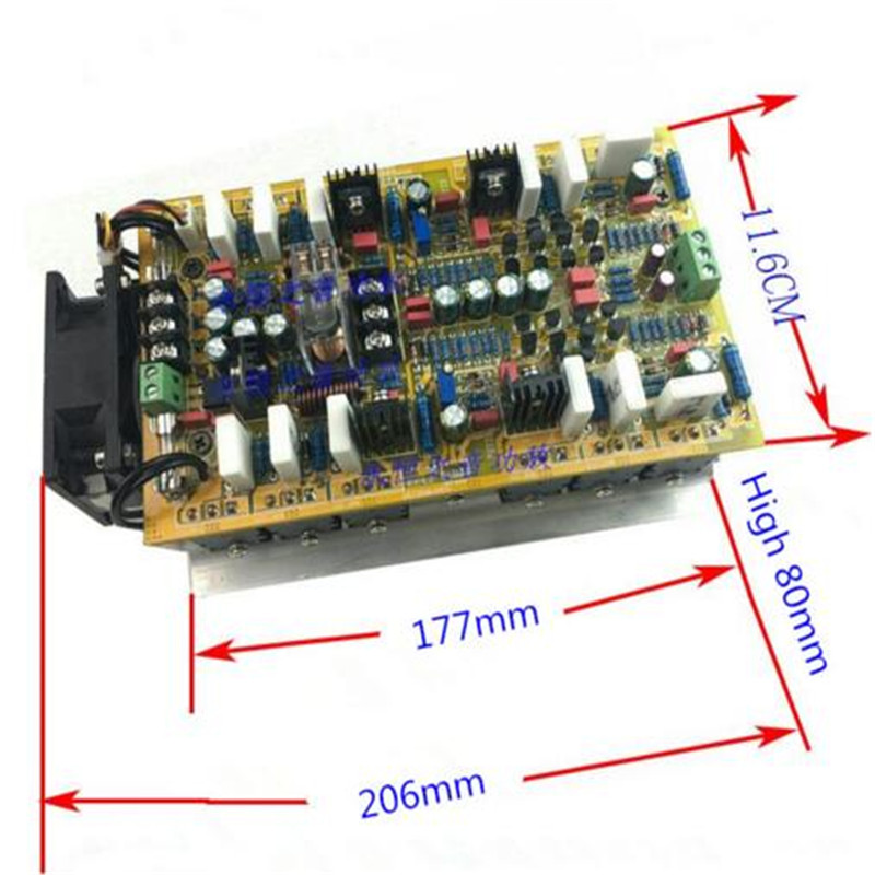 5200/1943 Power tube Symmetrical double differential Constant current 600W+600W HIFI 2. 0 channel stereo audio amplifier board