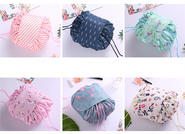 Women Drawstring Cosmetic Bag Fashion Travel Makeup Bag Organizer Make Up Case Storage Pouch Toiletry Beauty Kit Box Wash Bag Cosmetic Bags