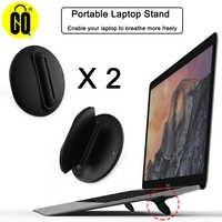 Support de Support universel pour ordinateur portable pliable noir, Support de Support pour ordinateur portable 10-17 pouces