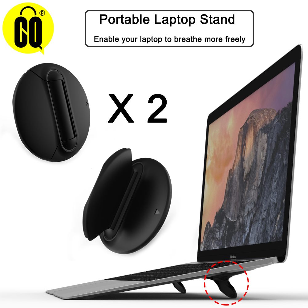 Universal Black Folding Portable Laptop Stand Bracket,Support Support 10-17inch Notebook Notebook Cooler Stand image