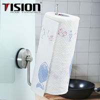 Stainless steel Suction Kitchen Paper Towel Holder Roll wall mounted Sucker Tissue Holder Toilet Paper Roll Holder towel rack