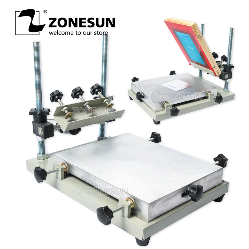 ZONESUN High Precision Stencil Printer Silk Screen Printer SMT Solder Paste Silk Screen Printing Machine For Metal Plastic Wood