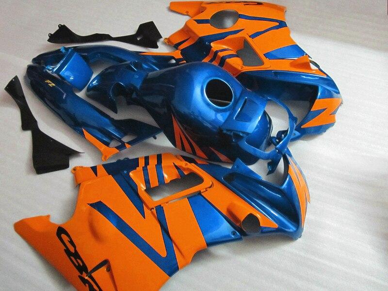 Carénages en plastique ABS pour Honda 1991 1992 1993 1994 CBR 600 F2 CBR600 F 91 92 93 94 CBR600 F2 kits carénages bleu orange + anse de réservoir