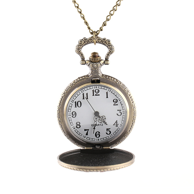 Vintage Charm United States Marine Corps Quartz Steampunk Pocket Watches For Women Men Necklace Pendant Clock With Chain Gifts