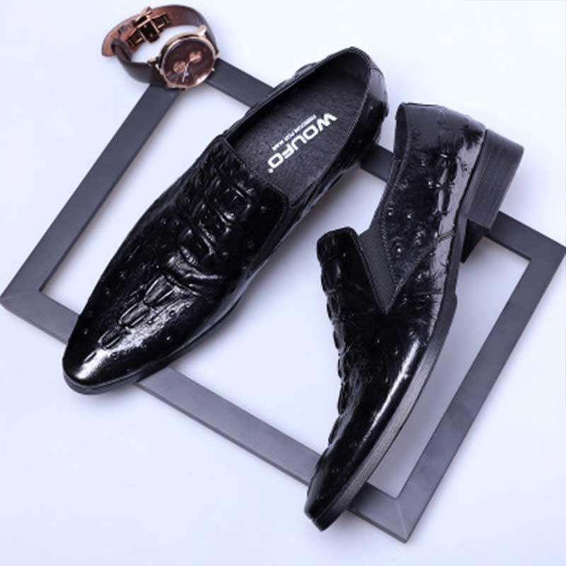 Chaussures on Appartements Slip De Peau Hommes Cuir Décontracté Fendu Mocassins Praty Crocodile Supérieure En Qualité YfyIvb76g