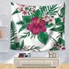 CAMMITEVER Flower Floral Green Leaf Leaves Tapestry Boho Wall Carpet Tapestry Colored Printed Decorative Mandala Tapestry