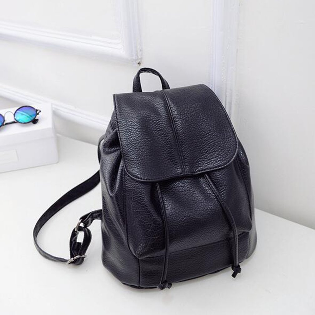 Fashion Women Backpack Solid Color Ladies Travel PU Backpack Universal Women School Bags For Women 2018 New Arrival women backpack new fashion casual pu leather ladies feminine backpack candy color korea school style solid student mini backpack