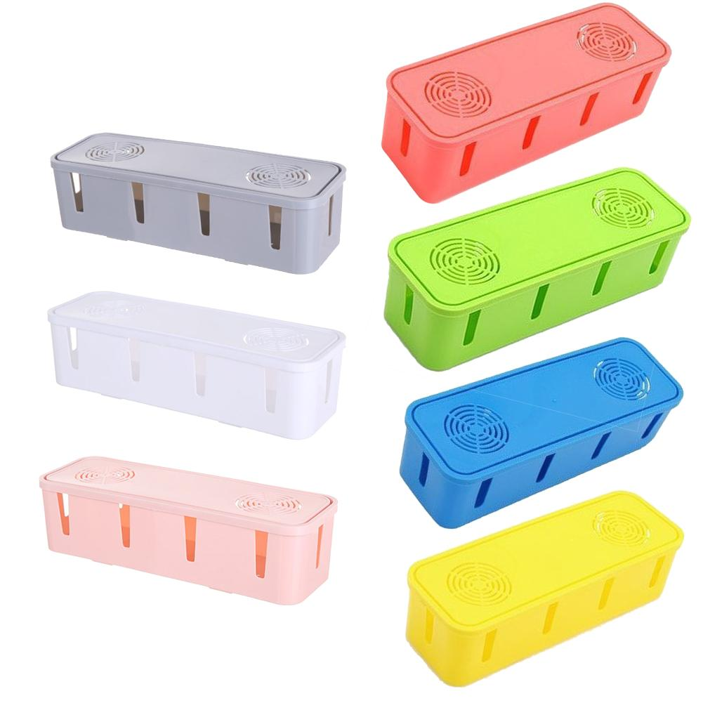 Box-Organizer Socket-Storage-Box Table-Top Power-Strip Take-Up-Box Finishing Fixed