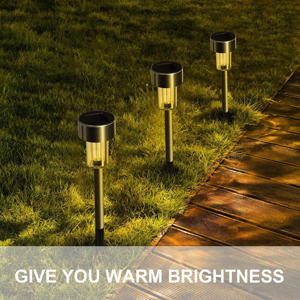 1 шт. открытый нержавеющей стали светодиодный одиночный Солнечный газонные лампы садовые путь солнечный свет для газона световой столб светодиодный солнечный светящиеся палки