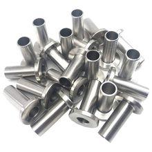 Защитные рукава из нержавеющей стали для 1/8 дюймовых кабельных перил, деревянных столбиков, балюстрада T316 морской класс 24 упаковка