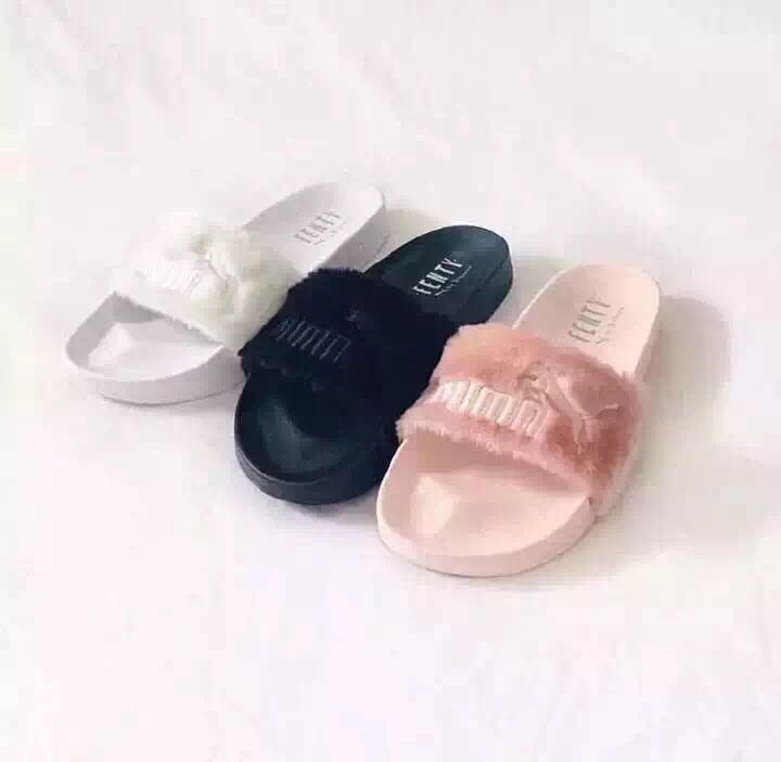 84a725b243a6 Detail Feedback Questions about PUMA BY RIHANNA LEADCAT FENTY Slippers and  women Shoes Classic Waterproof Couple Beach Slippers 36 39 on  Aliexpress.com ...