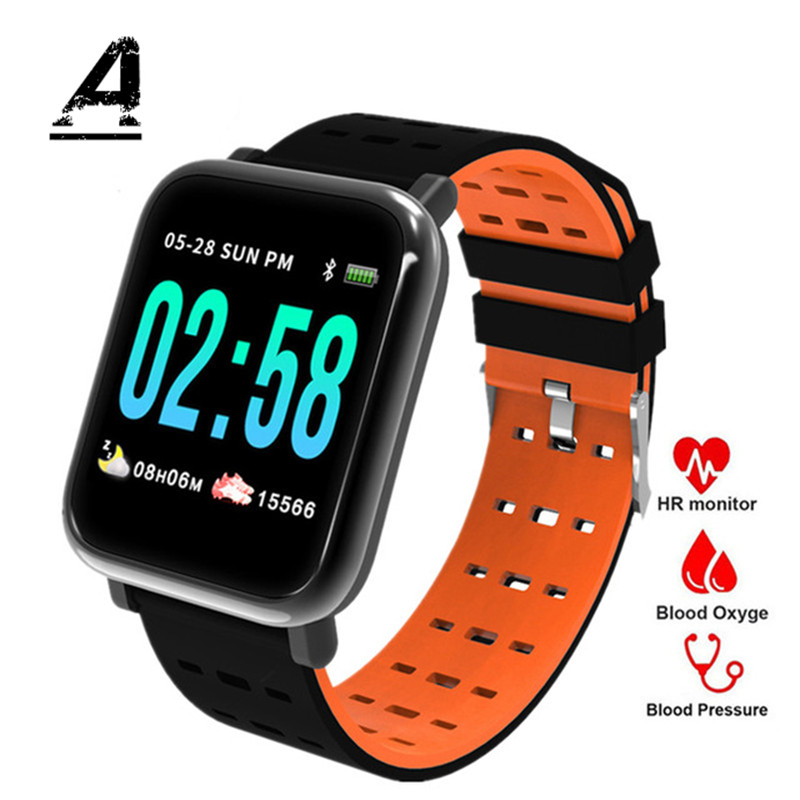 Men And Women Sports Smart Watch Clock IP67 Waterproof Watch Amazfit Bip Fitness Heart Rate Detection Pedometer Compatible