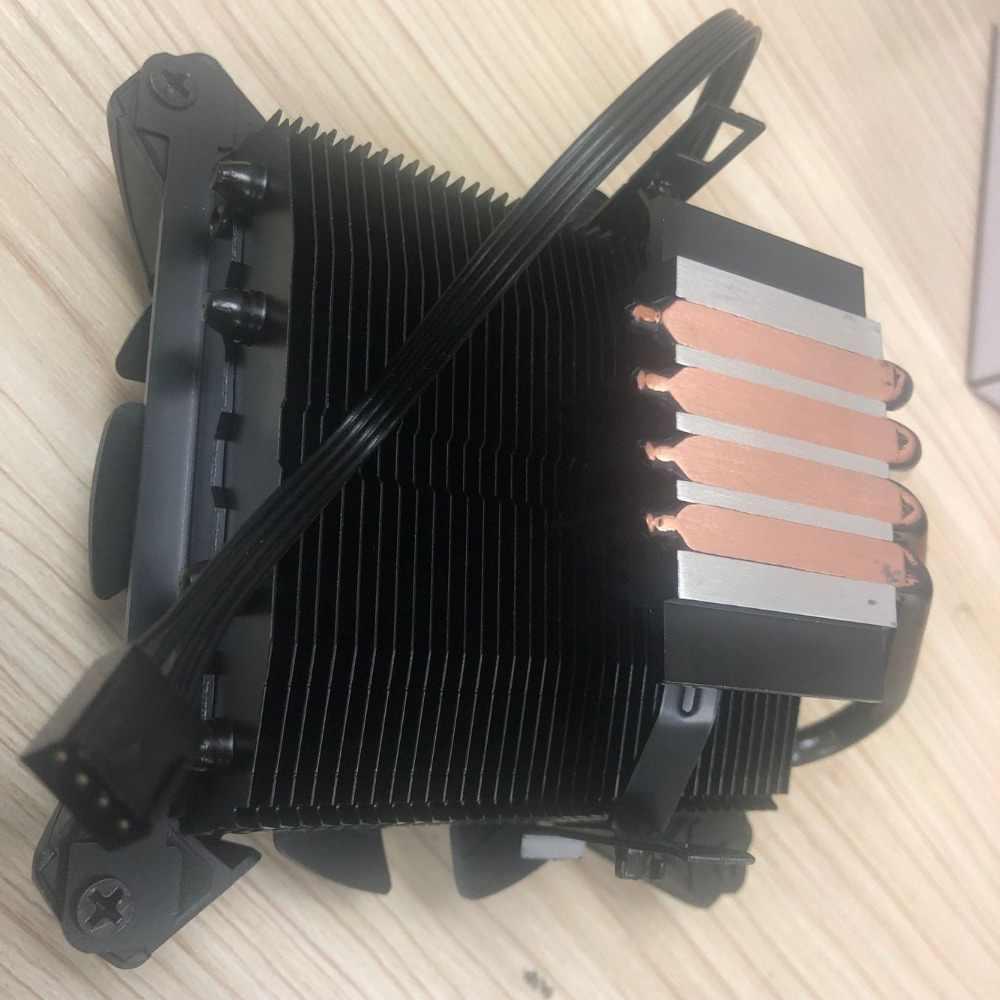 DarkFlash aigo PC وحدة المعالجة المركزية مروحة التبريد برودة 4 Heatpipes مروحة تبريد لوحدة المعالجة الرئيسية المبرد مبادل حراري من الألومنيوم LGA775/1155/1156/1366/ AM3/AM4