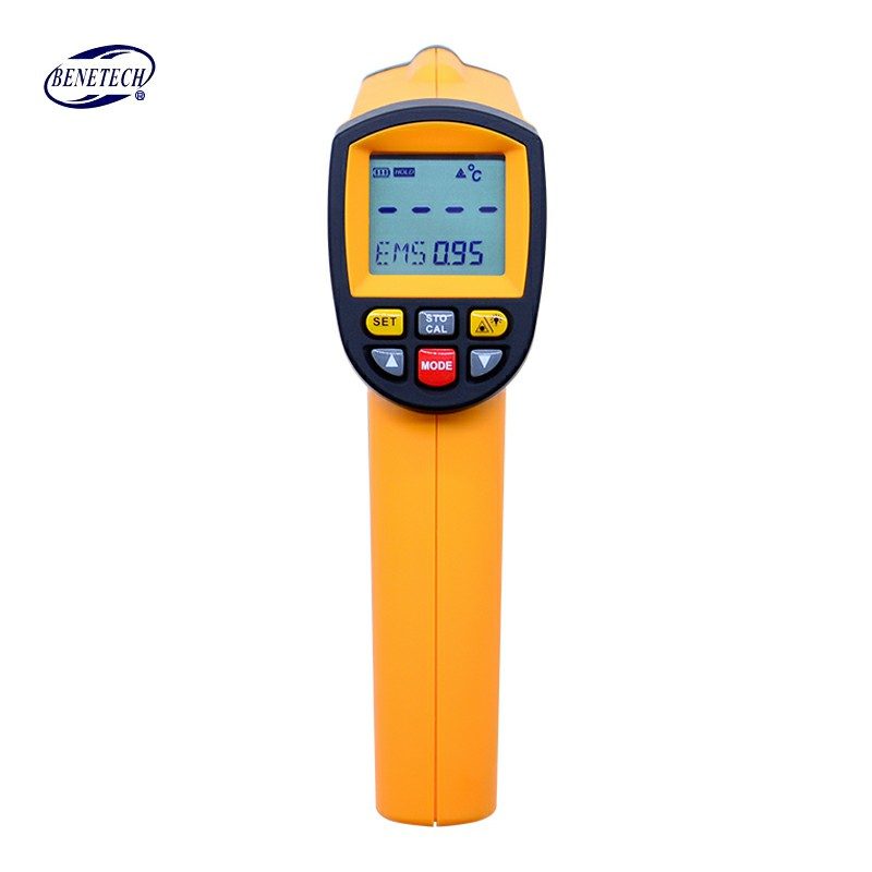 BENETECH GM1650 Infrared Thermometer Non Contact Pyrometer IR Laser Point Gun with Backlight 200 1650 degree
