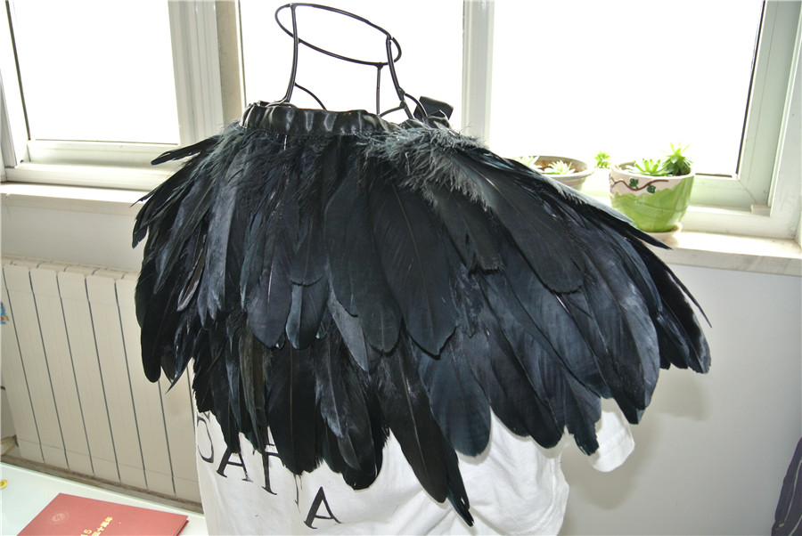 cc016b2177d Black feather cape top feather jacket feather shawl Carnival feather  shoulder shrug-in Feather from Home & Garden on Aliexpress.com | Alibaba  Group