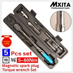 Juego de herramientas de reparación de coche MXITA 5 piezas con llave de par de bujía magnética 3/8 5-60NM juego de herramientas de mano