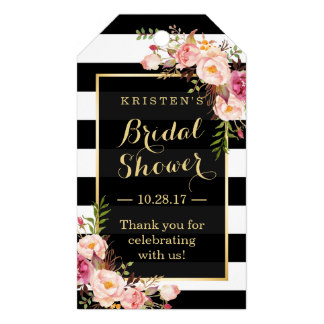 2x35inch bridal shower thank you pink floral stripes gift tags in cards invitations from home garden on aliexpresscom alibaba group