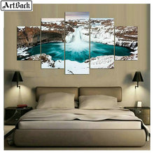 5 spelled diamond painting landscape cross-stitched square embroidery home decoration