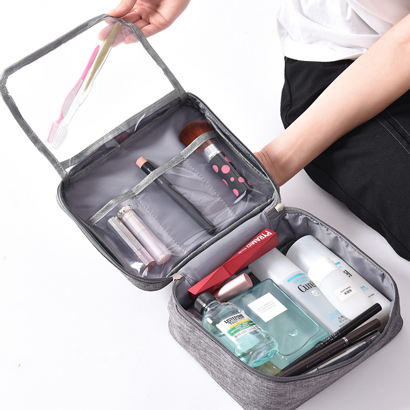 QIUYIN New Cosmetic Bag Travel Wash Female Mens Business Toiletries Makeup Zipper
