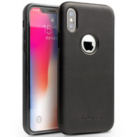 QIALINO High Quality Genuine Leather Luxury Back Cover for Apple for iPhoneX UltraLight Business Fashion Phone Case for iPhoneXS