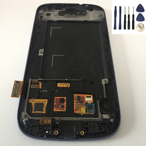 For Samsung Galaxy S III S3 I9300 Touch Screen Digitizer Sensor + LCD Display Panel Module Assembly With Frame + Free Tools