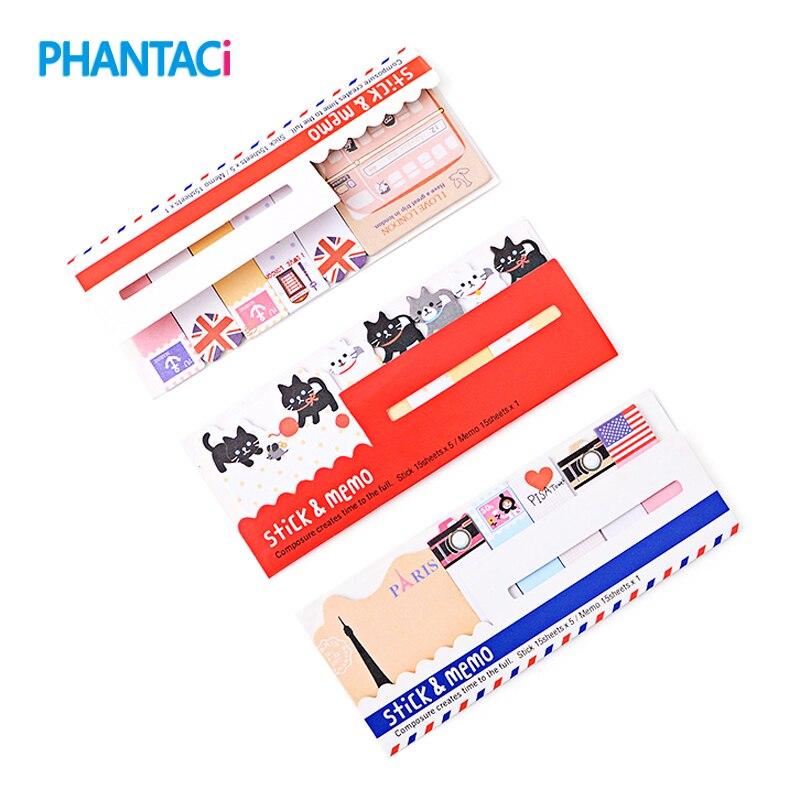 8 pcs/lot Cute Mini Memo Pad Sticky London Post It Note Paper Scrapbooking Sticker Pads Creative Stationery Free shipping
