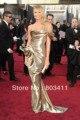 Freeshipping Custom made Stacy Keibler 84th Oscar Awards vestido celebridade vestido de ouro