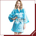 SR013 Silk Robe Bathrobe Women Short Satin Robe Women Peignoir Womens Sleepwear Robes Womens Dressing Gown Pijama Free Shipping
